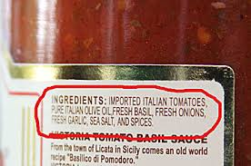 Tomato Sauce label